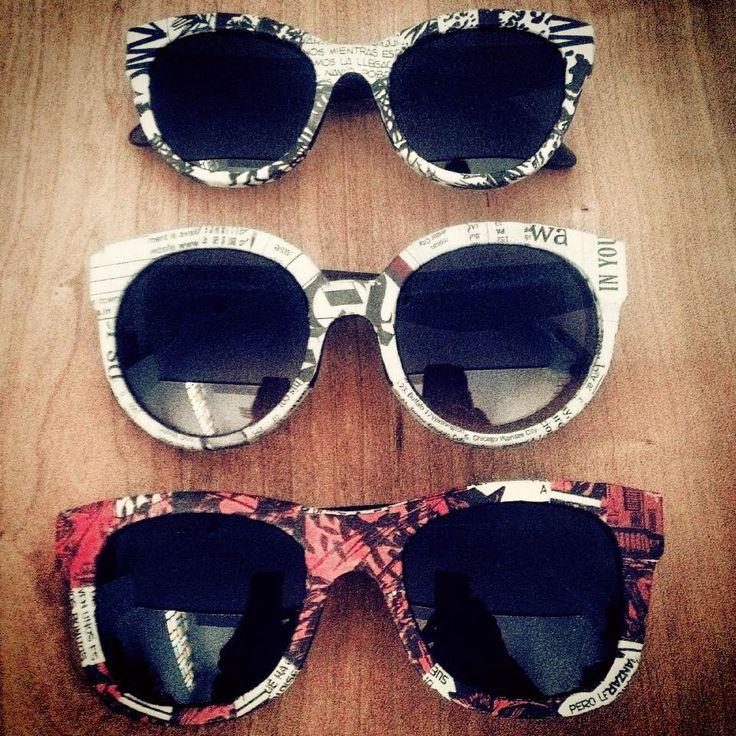 Paper & Paper Eyewear  #eyewear #sunglasses #comic #newspaper #fashion #cool #alternative #design  www.paperandpapereyewear.com