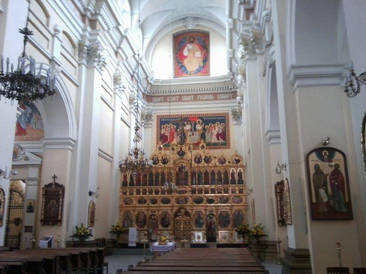 Przemyśl. Greek-catholik cathedral, iconostasis of the seventeenth century.