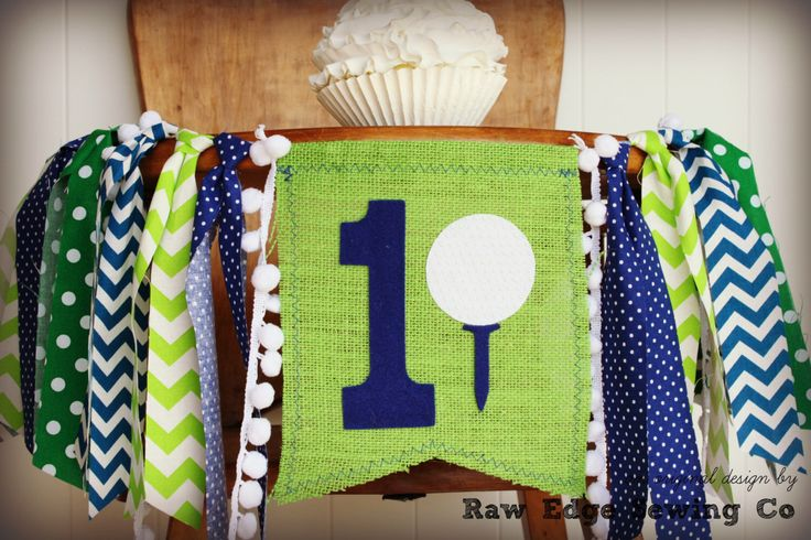 GOLF Birthday Age High Chair Highchair Birthday Banner Blue And Green Golfing Par Tee Party Photo Prop Bunting Backdrop Cake Smash First One by RawEdgeSewingCo on Etsy https://www.etsy.com/listing/275842482/golf-birthday-age-high-chair-highchair