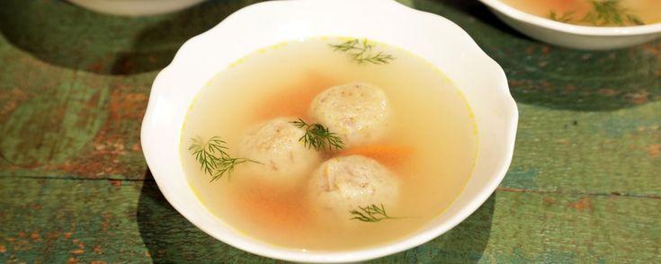Tender Turkey Matzo Ball Soup Recipe | The Chew - ABC.com