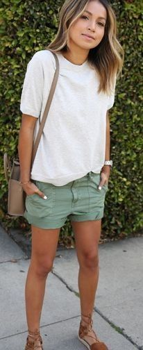 #summer #shorts #trend #outfitideas | Cargo Shorts Outfit