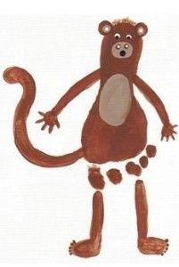 footprint monkey craft