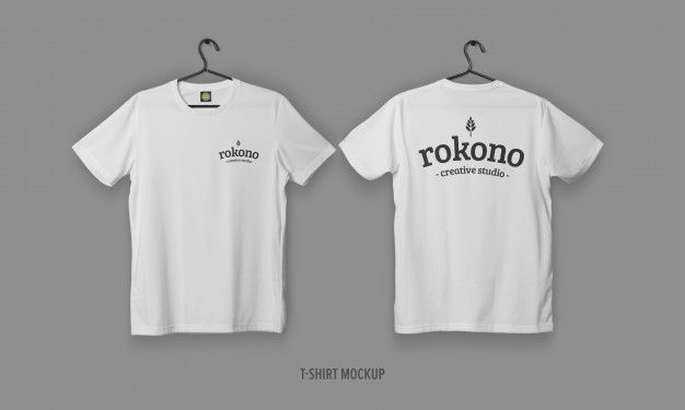 Download Realistic T Shirts With Face And Back Mockup Shirt Mockup Tshirt Mockup Shirts