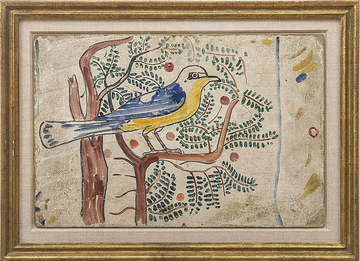Charles Prendergast (1863-1948): Bird | watercolor and pencil on gessoed paperboard | c.1928-32, unsigned | 12 x 18 in