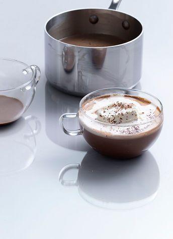 Grasshopper Hot Chocolate: 1990s Recipes + Menus : gourmet.com