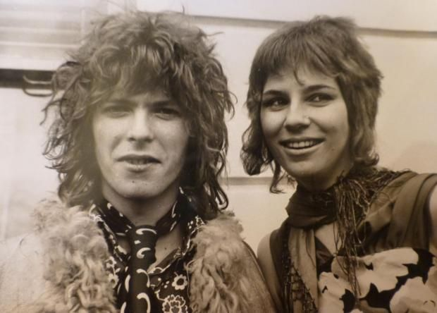 David and Angie Bowie on their wedding day. Photo: Ernie Mitchell