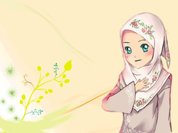 Gambar Kartun Muslimah Cantik Berhijab Animasi Bergerak Si Gambar Beautiful Wallpapers