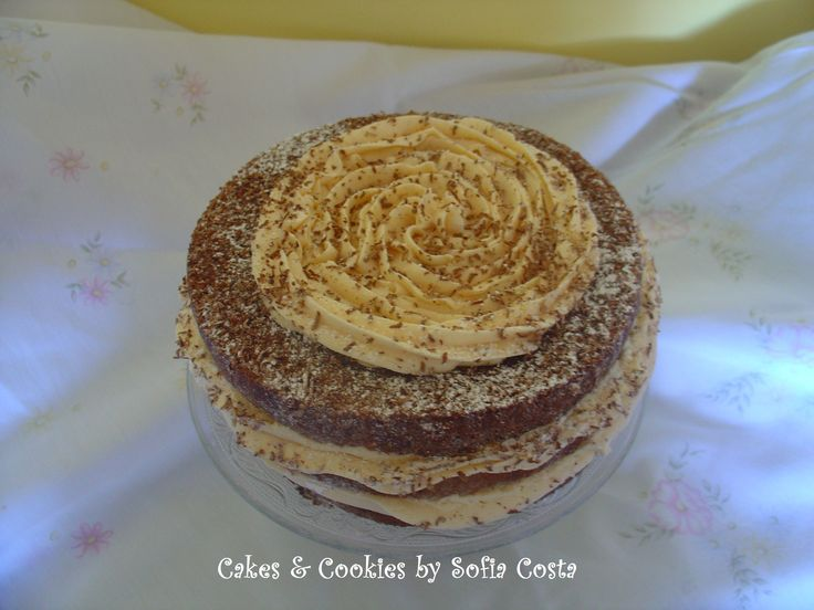 Naked cake Coke cake with caramel swiss meringue buttercream