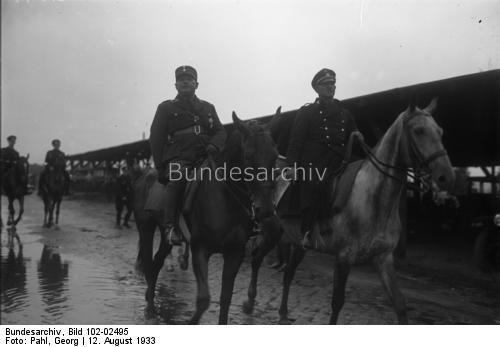Der große SS-Schutz-Staffel-Appell der Gruppe Ost der N.S.D.A.P. in Berlin, an welchem 10000 SS-Männer teilnehmen. Die SS-Männer kampieren in Zelten in einem Lager in Döberitz bei Berlin !