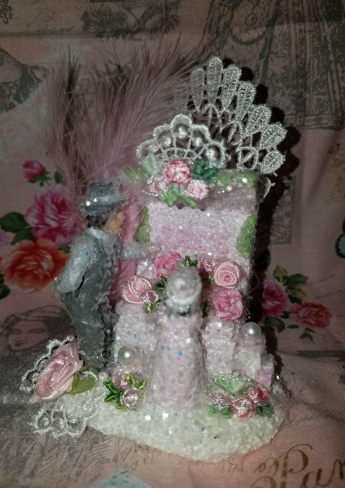 Pink Christmas Village Victorian Village Pink Shabby Chic Roses Pink Ooh La La
