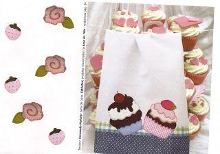 Carol Craft - Passo a passo de artesanato: Cupcake patchaplique com molde.