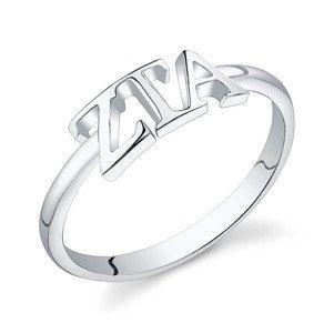 Sterling Silver Zeta Tau Alpha Letter Ring