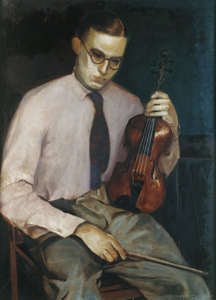 The Violinist, 1931 by Candido Portinari (Brazilian 1903-1962)