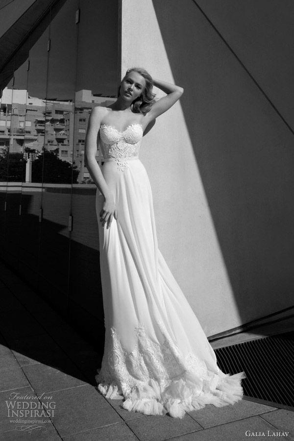 galia lahav wedding dresses 2012 strapless gown lace bodice. divine beaded sheath gown