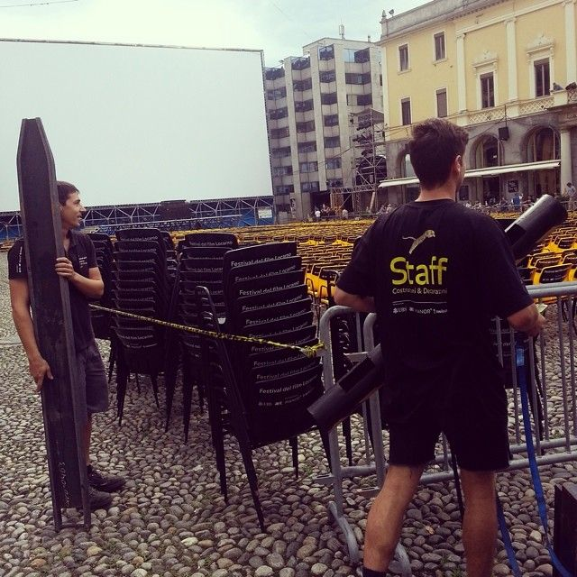 21, 22, 23, ... How many chairs do we have in the #PiazzaGrande?! #Locarno67