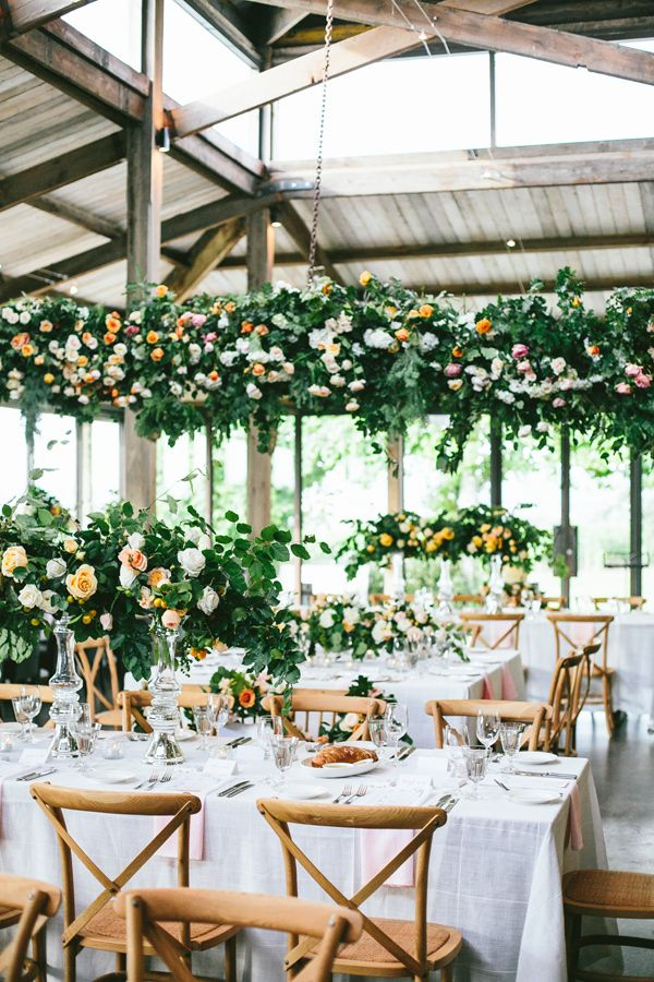 garden wedding receptions - photo by Love Katie and Sarah http://ruffledblog.com/modern-summer-wedding-in-the-yarra-valley #weddingreception #weddingideas
