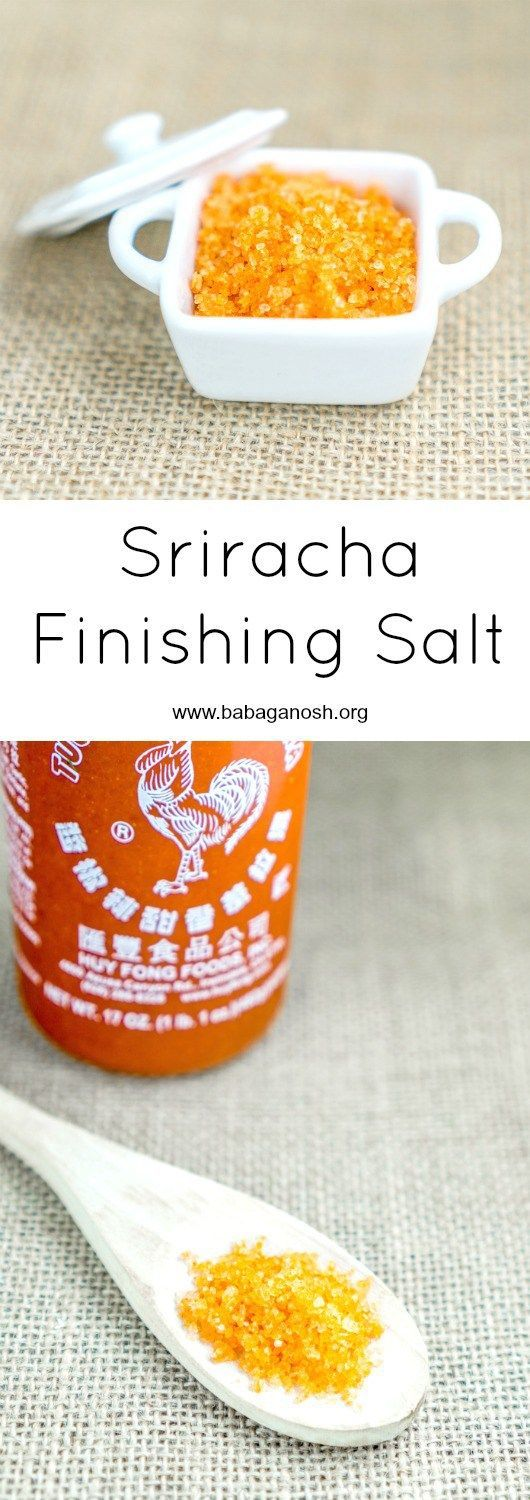 Use this Sriracha Finishing Salt to finish off meat, seafood, or veggie recipes and add an oomph of flavor to your dish! This DIY salt is just what your recipes needed! From http://www.babaganosh.org