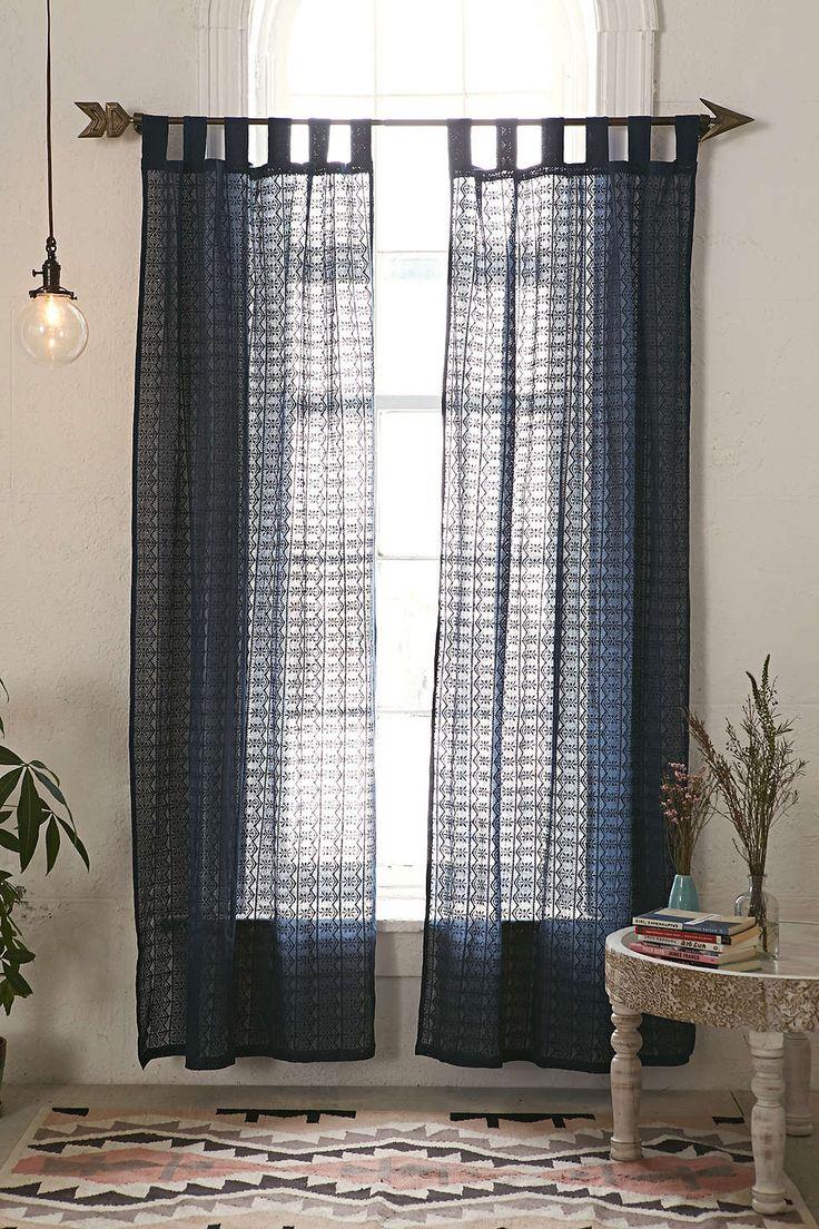 Plum Curtain Panels - Lace curtain