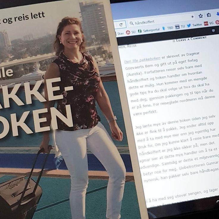 Jeg har skrevet om Den lille pakkeboken  Anbefales!  astridterese.no #denlillepakkeboken #dagmargoovaertsbern #pakking #ferie #reise #håndkoffert