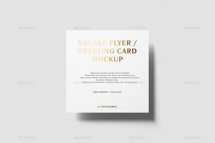 Square Flyer Mockup - Foil Stamping Edition #Mockup, #Flyer, #Square, #Edition