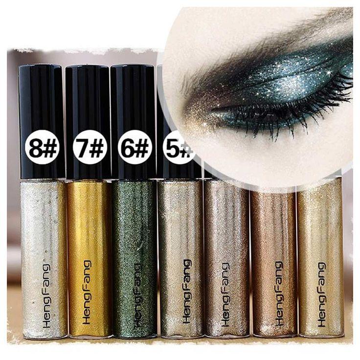 2016 Fashion Color Glitter Eyeliner Liquid Waterproof Long Wear Shiny Eye Liner Makeup Natural Shining Women Eye Cosmetic Ne0017