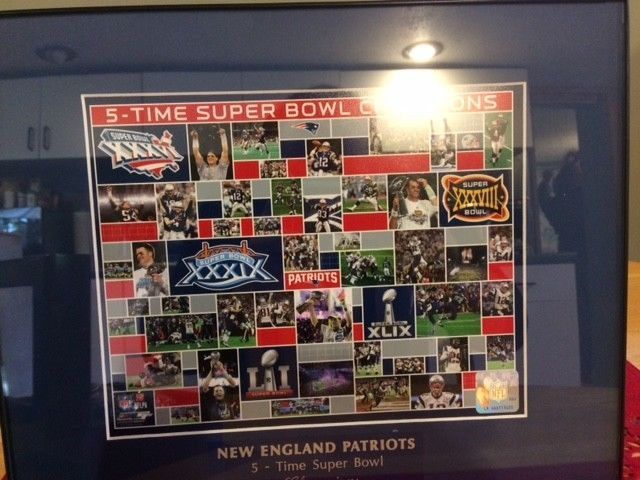 New England #Patriots Official NFL Photo 5X Champions Collage Brand New #RINGCHAMPSUSA #NewEnglandPatriots