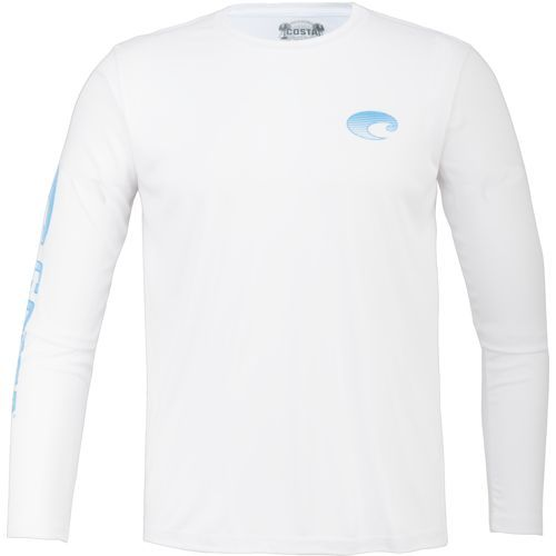 Costa Del Mar Men's Techcrew Long Sleeve Shirt (White, Size Large) - Men's Outdoor Apparel, Men's Outdoor Graphic Tees at Academy Sports