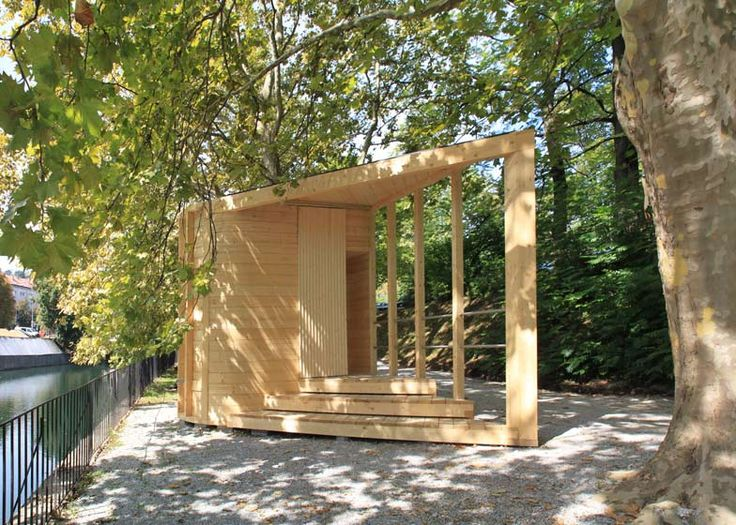 Water Temple wooden pavilion by Kieran Donnellan and MEDS students