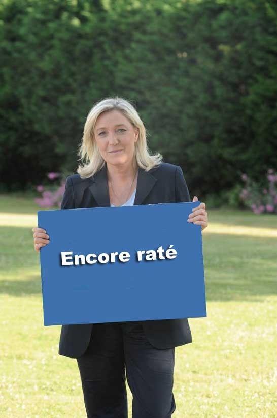 Deuxième tôle pour Marine Le Pen et ses petits copains ; le tribunal de grande instance de Nanterre, saisi en référé par le député européen, a décidé, mercredi 8 juillet, de suspendre l'assemblée générale extraordinaire du Front national. Bref ; quand...