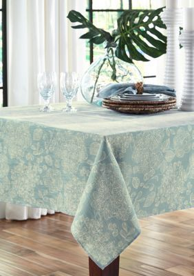 Fraiche Maison Lenai Teal Tablecloth 60 In. X 102 In.   Teal