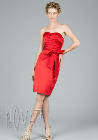 satin off shoulder knee length cocktail dress with Sashes/Ribbons and bow deatiling