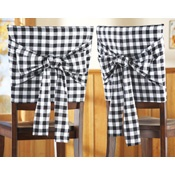 Bistro Checkered Kitchen Chair Covers