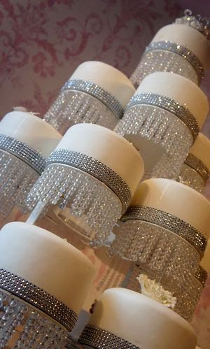 Cascading Wedding Cakes