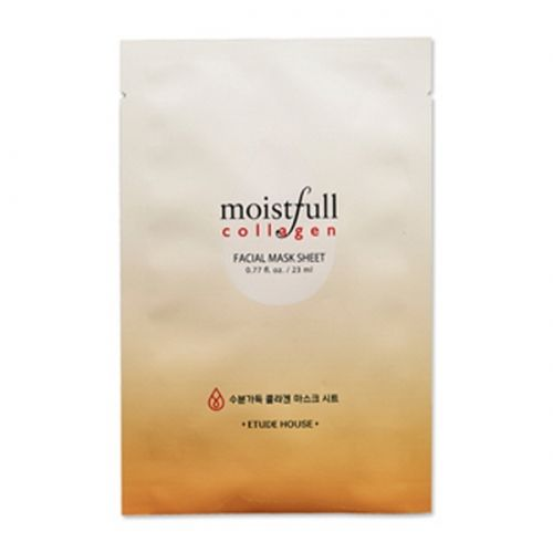 Etude House Moistfull collagen facial Mask sheet 1ea (23ml)           Features  mask Sheet is do to help rapidly moisture.               Detail         How to use After wash up, clear up your skin texture with toner. Remove the film of the patch and apply