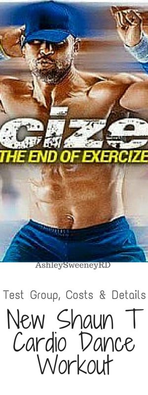 Test group, costs, program details, different packages, and previews of the new Shaun T Cize workout
