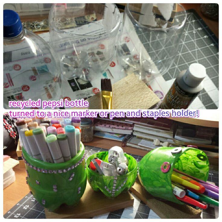 Recycled pepsi bottle!