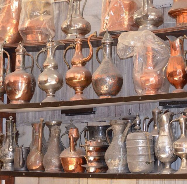 Picture from Ali's copper shop