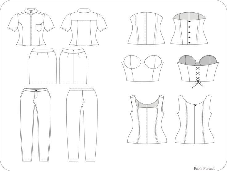 Desenho técnico elaborado no curso virtual Modarte - UDESC - 05/2012: Caso tenha interesse em meus trabalhos, para maiores informações, contate-me: fabinha.furtado@hotmail.com