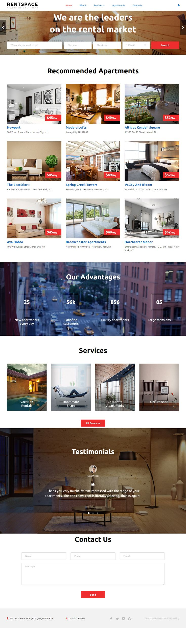 Background image 100 responsive - Rentspace Is Premium Full Responsive Parallaxhtml5template If You Like This Videobackgroundtemplate Visit Our