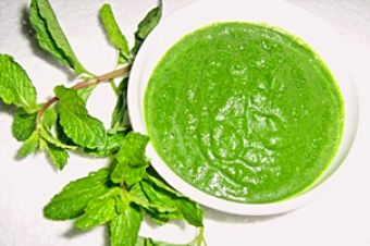 Mint Chutney at New India Restaurant in Austin http://goo.gl/EYpmEI