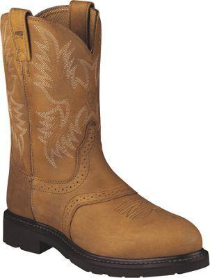 Ariat Sierra Saddle Steel Toe Pull On Work Boots for Men - Aged Bark - 10.5 M