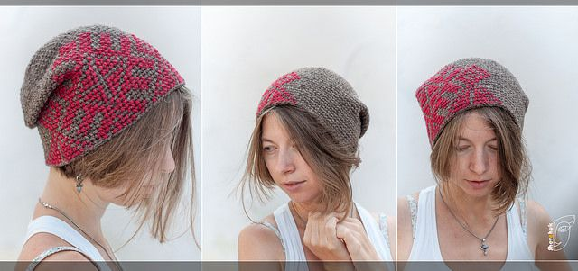embroidered hat in Ukrainian style, knitted crochet