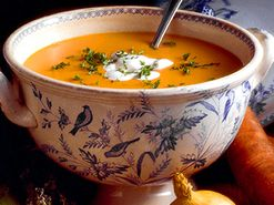 Morotssoppa med ingefära och apelsin (kock Klara Desser)