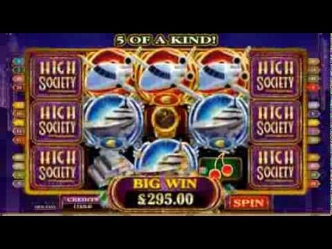 High Society Online Slot Game Video