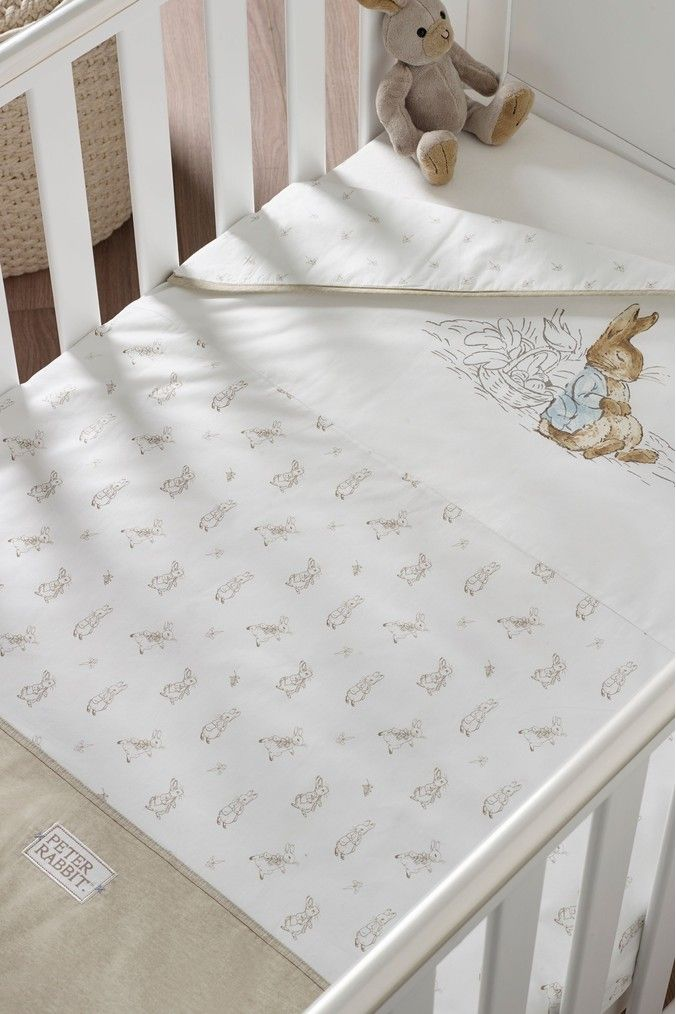 Peter Rabbit Coverlet Cream Nursery Ideas In 2019 Baby