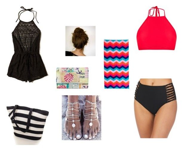 """""""Untitled #17"""" by xcon27x on Polyvore featuring Hollister Co., Ambrielle, Black, Sunnylife and Mundi"""