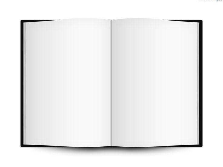 Blank open book template | PSDGraphics | book templates ...