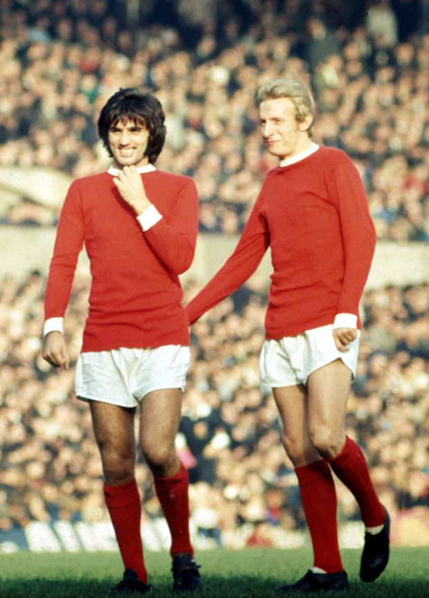 George Best  Denis Law.
