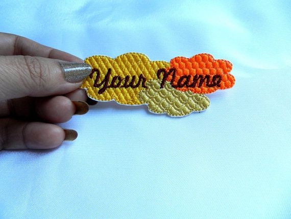 Name tag Name patch Embroidered Name patch Custom made with