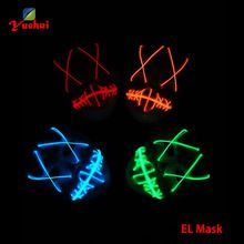 DC-3V Trendy 10 Type Lighting LED Mask Cartoon Movie Party Mask and cross eye…